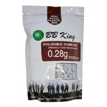 Esfera plástica BB King 0,28g branca (2500 un.) 6mm