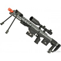 Rifle de Airsoft Sniper Gás DSR-1 6mm ProShop, Full Metal (Alumínio CNC), Bolt Action, Monopé traseiro, Bipé 6 MM